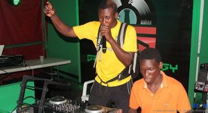 One of the competitors in this year's Heineken Green Synergy DJ Competition, Lil Yute, auditioning in Roseau last Sunday.