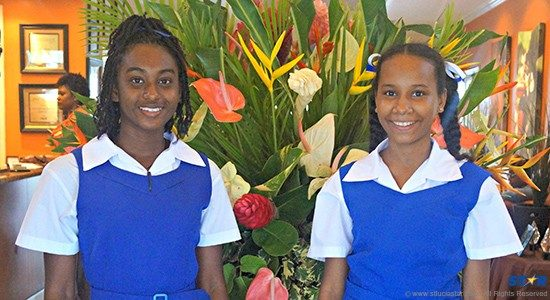 Ashlyn Theodore and Gabriellea James are proud recipients of 2015 scholarships from Bay Gardens Beach Resorts.