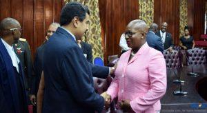 President Maduro meets Opposition Leader Dr. Gail Rigobert.