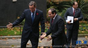 Prime Minister David Cameron of Britain, left, with President Abdel Fattah el-Sisi of Egypt in London on Thursday. Dan Kitwood/Getty Images