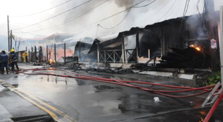 Rodney Bay Fire Destroys Restaurants