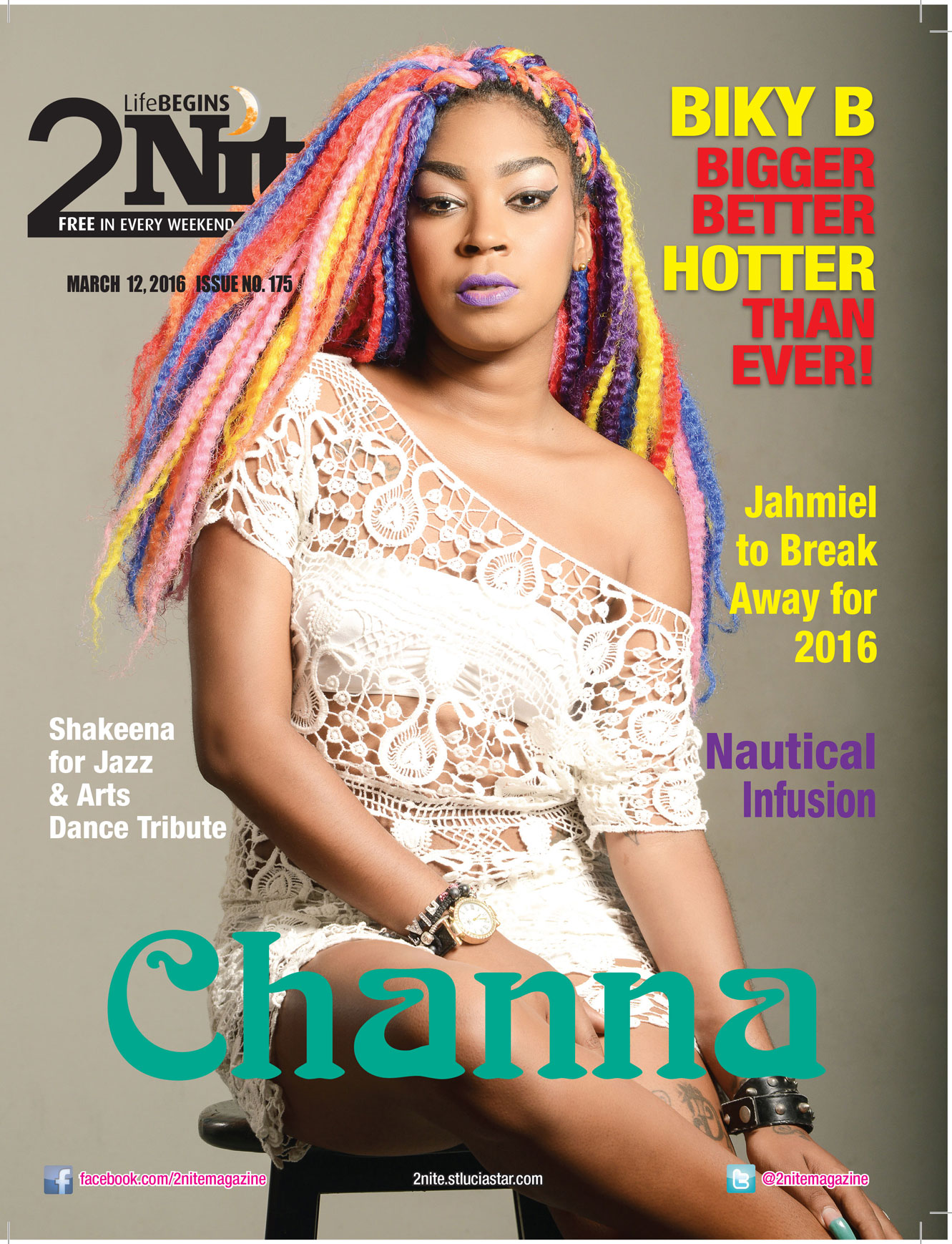 2Nite Magazine Saturday March 12th, 2016 ~ Issue no. 175