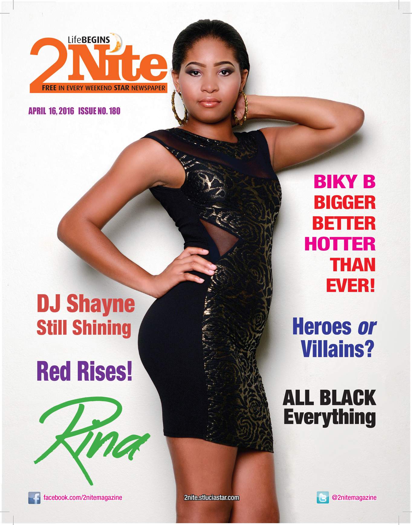 2Nite Magazine Issue no. 180 for Saturday 16th, 2016