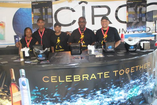 The Ciroc/Johnny Walker Black experience at last year's Jazz Festival.