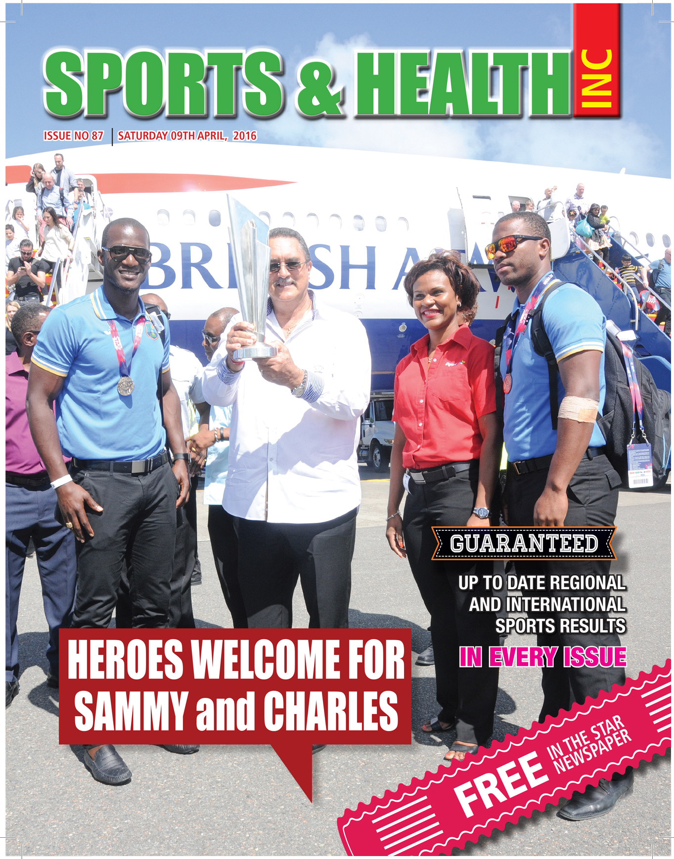 Sports & Health Magazine Inc for Saturday April 9th, 2016 ~ Issue no. 87