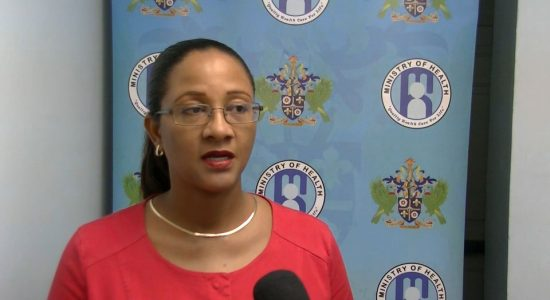 Dr Sharon Belmar-George, Chief Medical officer of Saint Lucia breaks the news to the media.