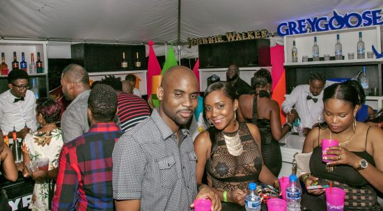 party lovers enjoying the VIP fete atmosphere with some help from PCD.