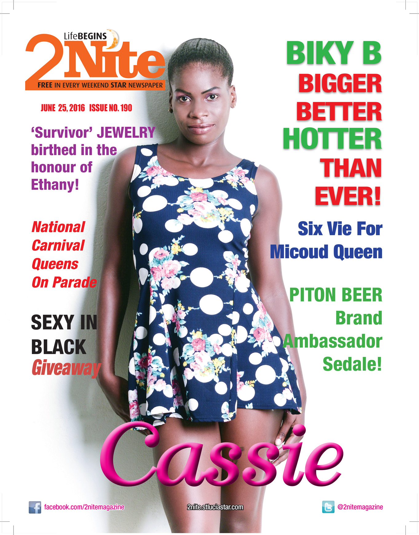 2Nite Magazine for Saturday June 25th, 2016 ~ Issue no. 190