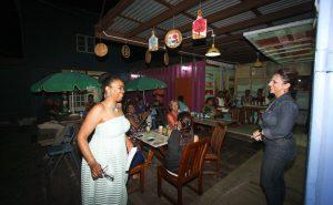 Mae Wayne STAR Publishing Managing Director (right) introducing Dr. Delia Samuel.