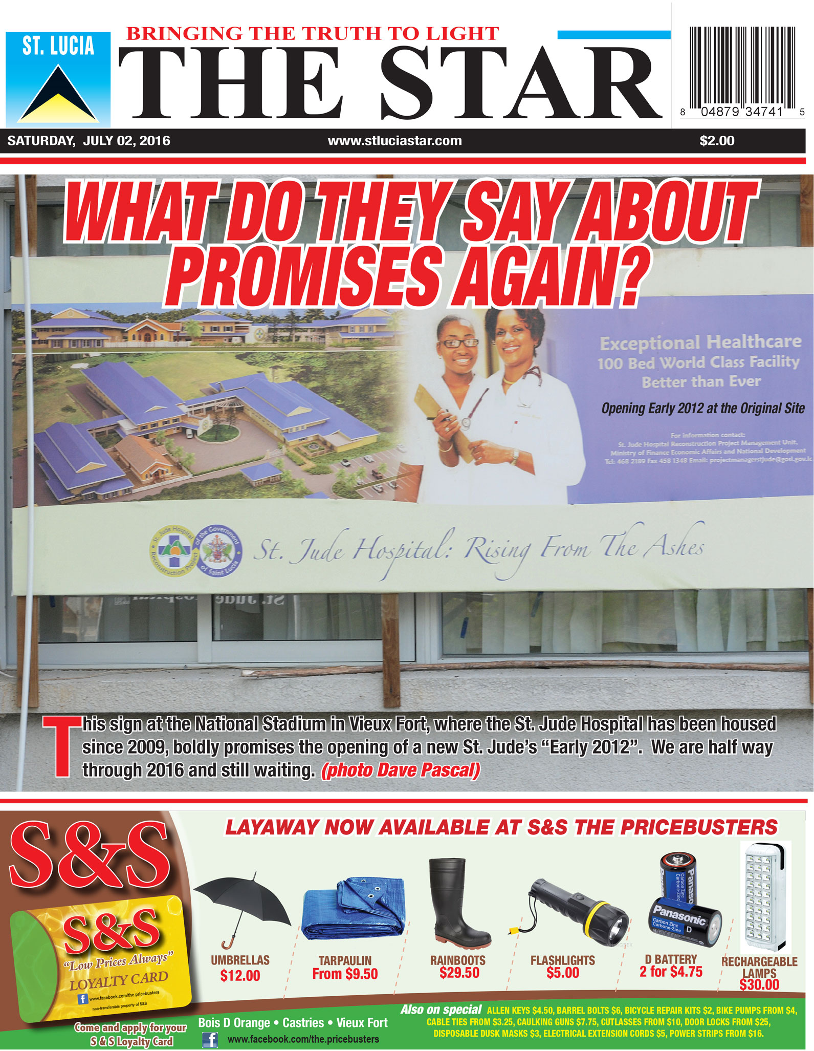 The STAR Newspaper for Saturday  July 2nd, 2016