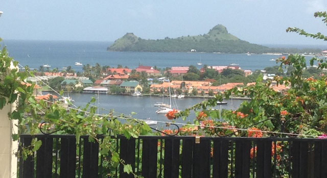 The view afforded from the villas in Rodney Heights is in stark contrast to the ordeal suffered here by Brisitsh tourist Georgina Mortimer in February.