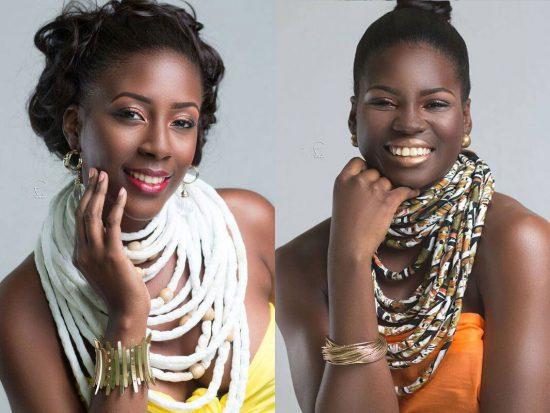 (Left) Sheris Paul is Miss Bounty. (Right) Shartoya Jn. Baptiste is Miss Super J.