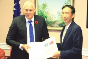 PM Allen Chastanet and Former Taiwanese Ambassador Ray Mou