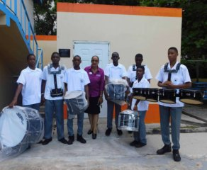 Sandals Foundation Hands Over Marching Band Equipment to Corinth Secondary School