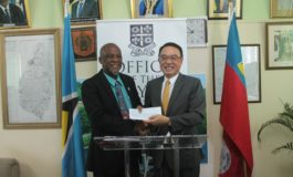 Taiwanese Embassy Presents Cheque to Castries Constituency Council
