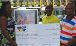 St Lucians win big with Berger Paint A Merry Christmas Promotion!
