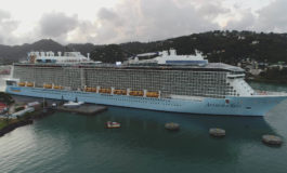 Port Castries hosts its largest cruise ship, the Anthem of the Seas