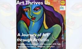 "MeCurator Art Gallery will host a art collection titled ""Art Thrives Us - A Journey of Art through Arthritis"""