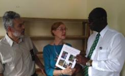 Professor Claire C. Robertson presents books to FRC