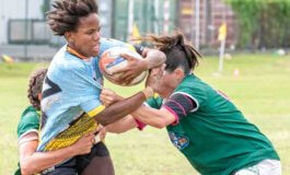 First and second for female rugby players